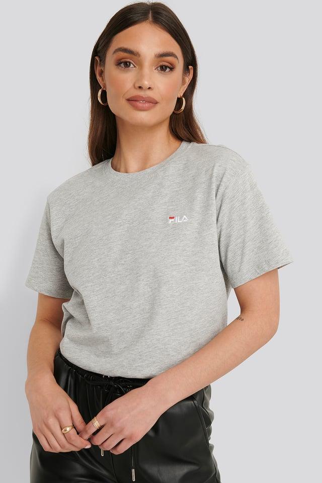 T-Skjorte Light Grey Melange