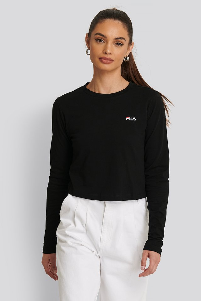Eaven Cropped LS Shirt Black