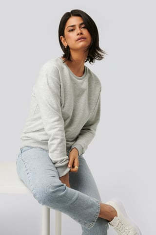 Light Grey Melange Effie Crew Sweat