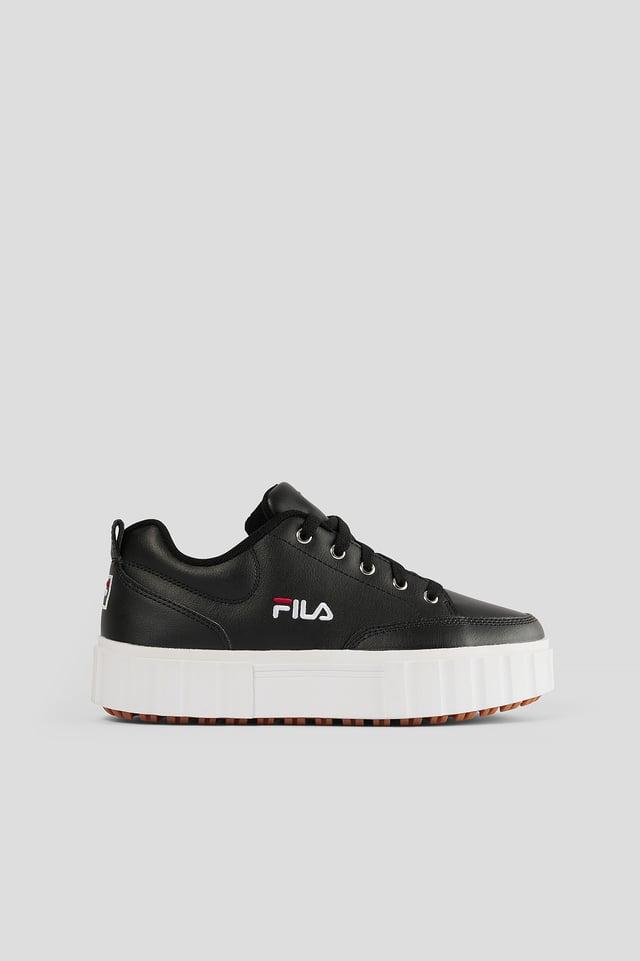 Skinnsneakers Black