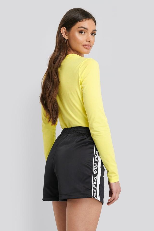 Tarin Shorts High Waist Black/White