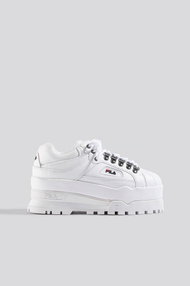 White/Navy/Red Trailblazer Wedge Wmn Sneaker