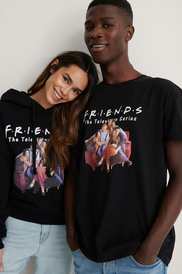 Black All Season FRIENDS Unisex Print Tee