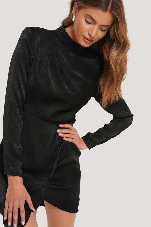 Asymmetric Dress Black