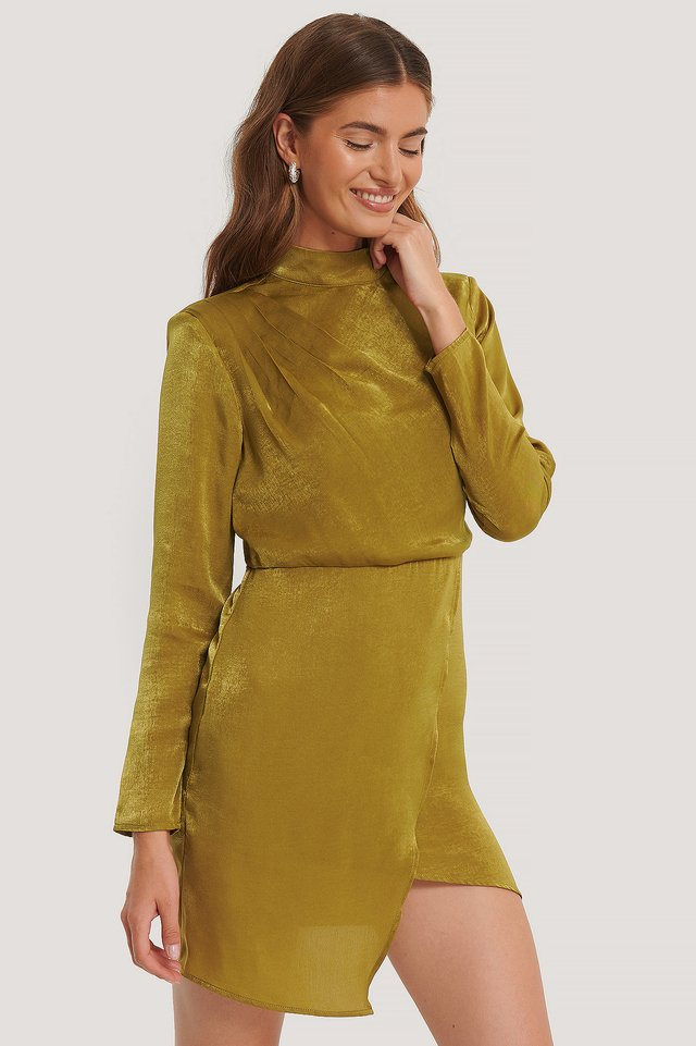 Asymmetric Dress Light Khaki