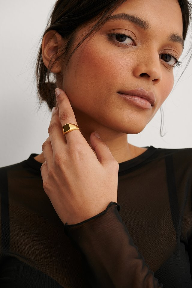 Gold Gold Plated Pinky Ring