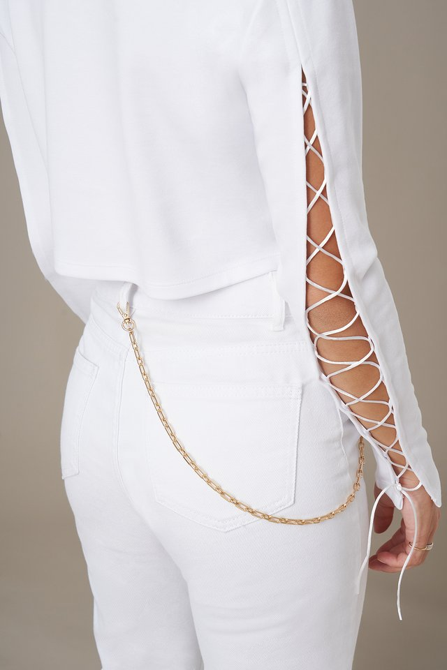 Chain Detail Belt Gold