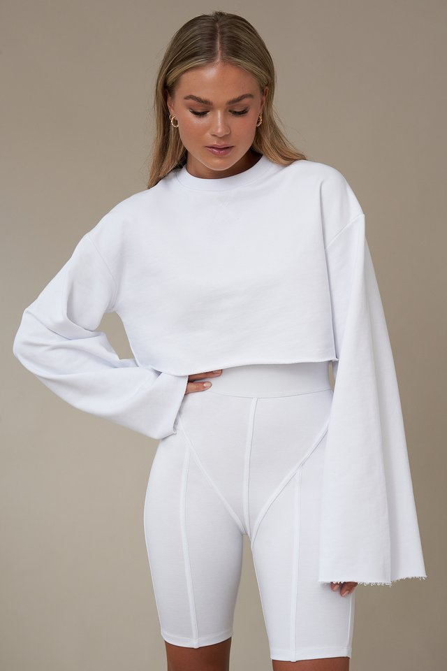 Cropped Sweater White