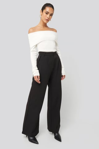 Black Flowy Tailored Pants