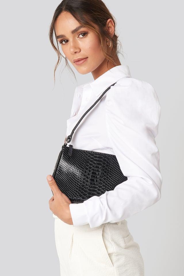 Snake PU Bag Black