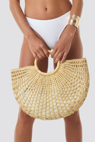 Beige Straw Bag