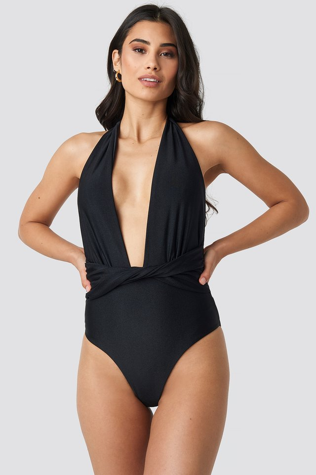 Twisted Swimsuit Black