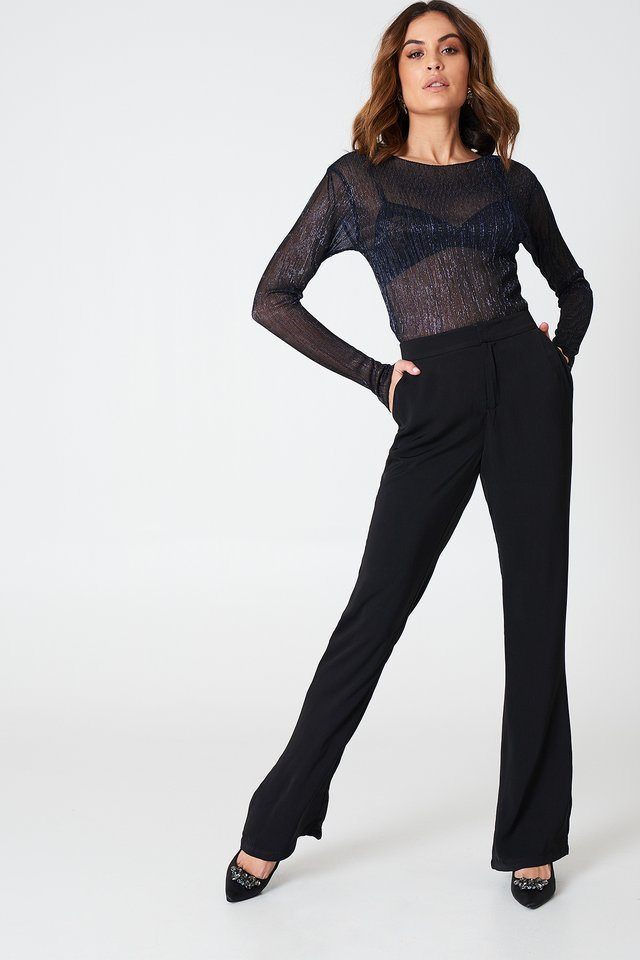 Black Bootcut Suiting Pants