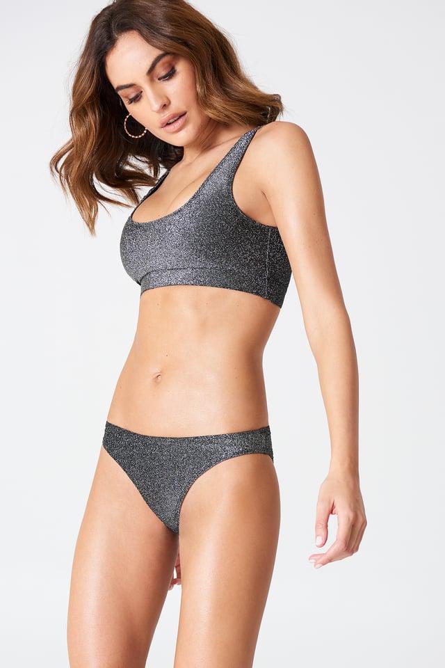 Black Glittery Bikini Panty