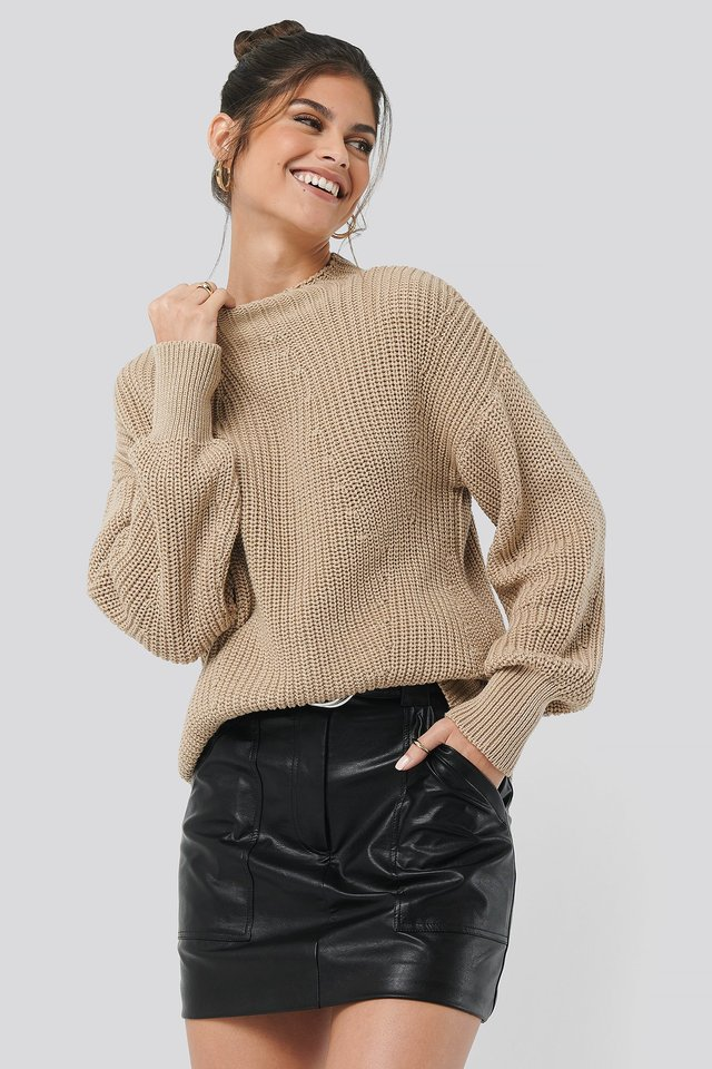 Beige Oversized Knit