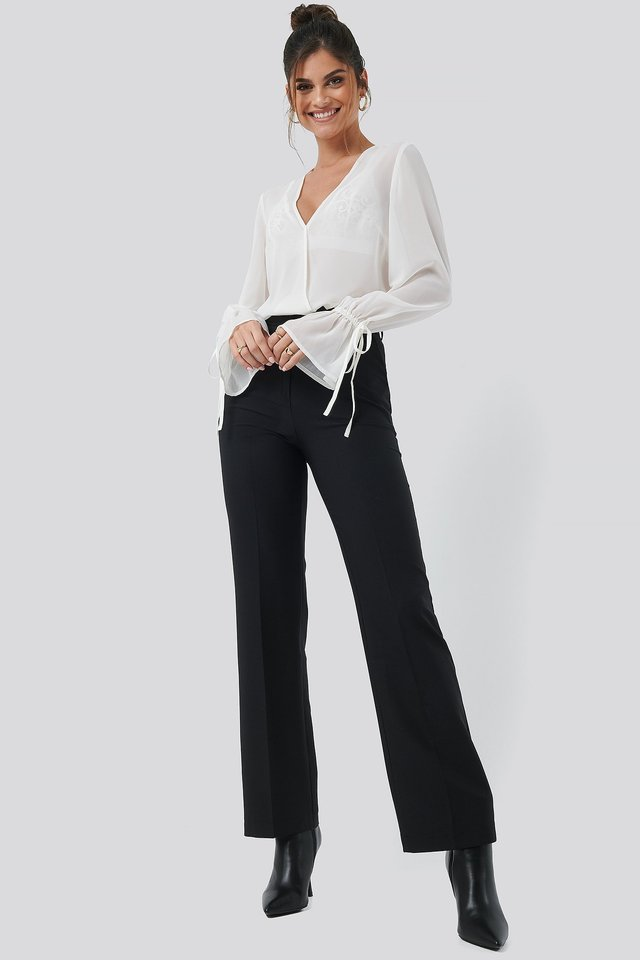 Seamline Suit Pant Black