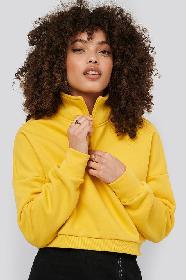 Zipper Jersey Sweater Hanna-Martine x NA-KD