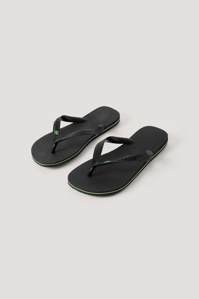 Black Havaianas Brazil Flip Flop