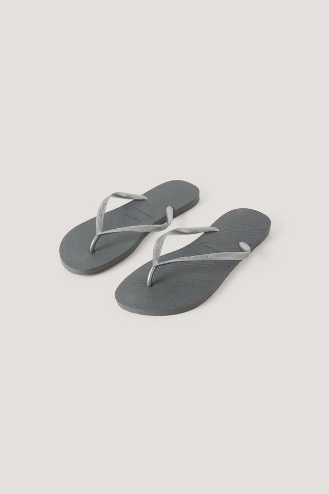 Havaianas Slim Flip Flop Steel Grey