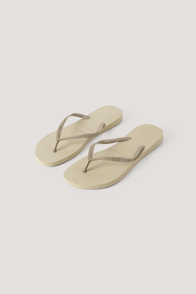 Havaianas Slim Flip Flop Sand Gold