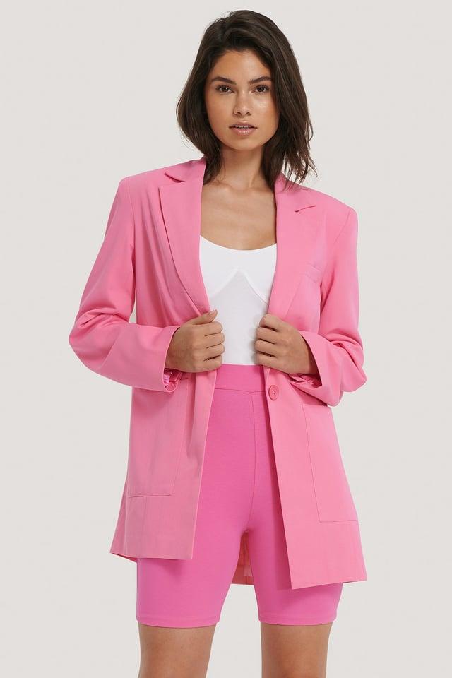 Obcisłe Spodenki Kolarskie Pink