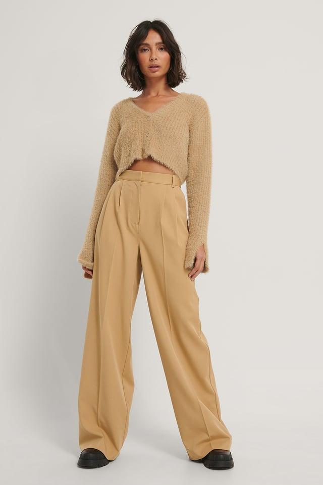 Sand Gabardin Trousers