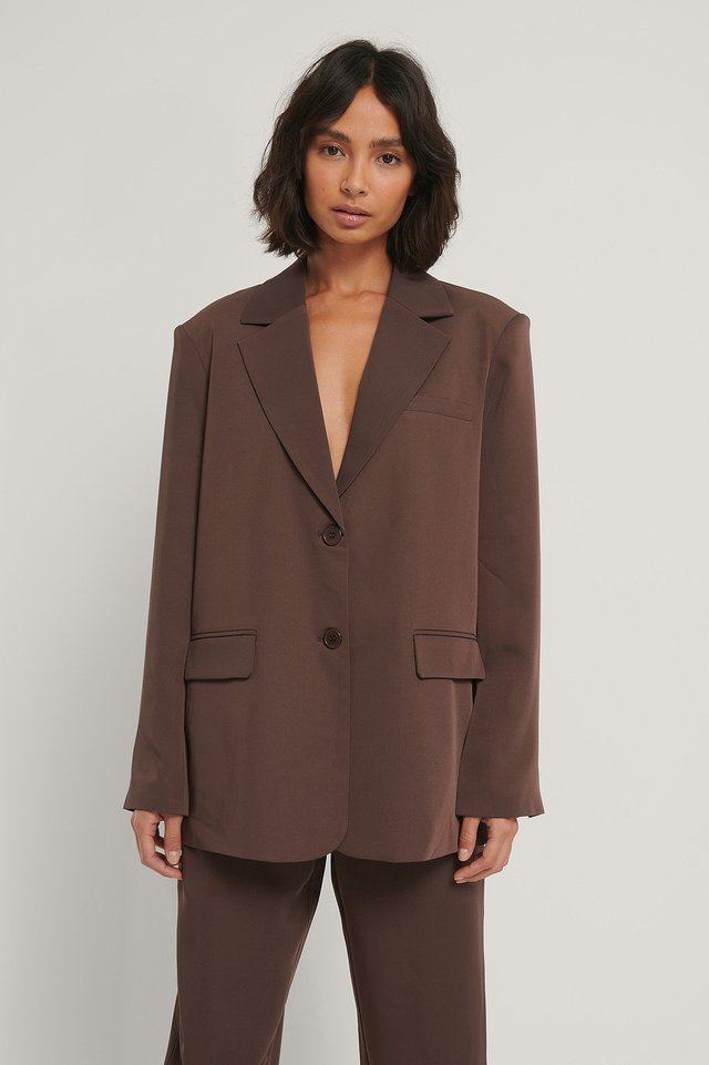 Oversize Blazer Brown