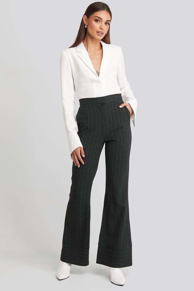 Striped Trousers Hoss x NA-KD