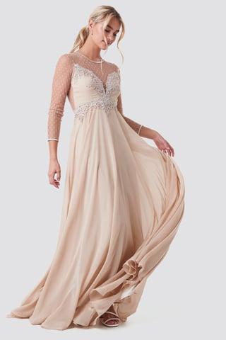Beige Alicia Dress