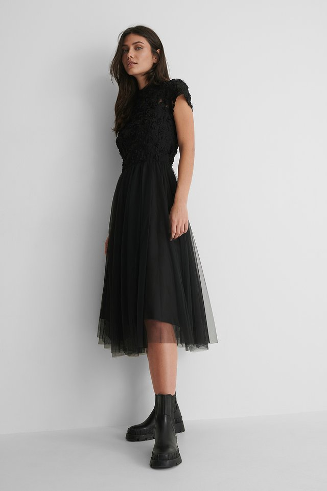 Black Mollie Dress