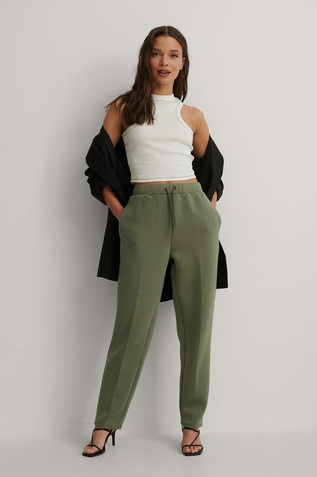 Dark Green Jogger Suit Pants