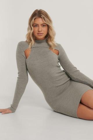 Mauve Kleid Mit Aussparungen