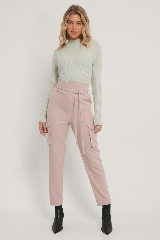 Old Pink Overlapped Pants