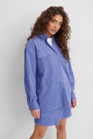 Violet Hemd Zum Knöpfen Mit Tasche Vorne