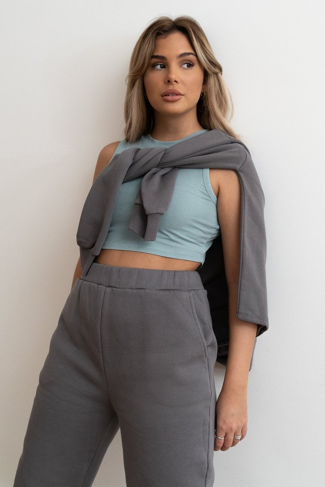 Cloud Stone Washed Cropped Singlet