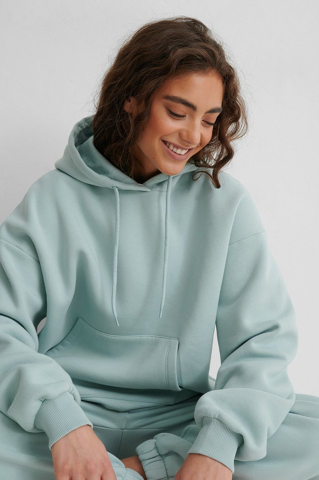 Stone Washed Oversized Hoodie Cloud