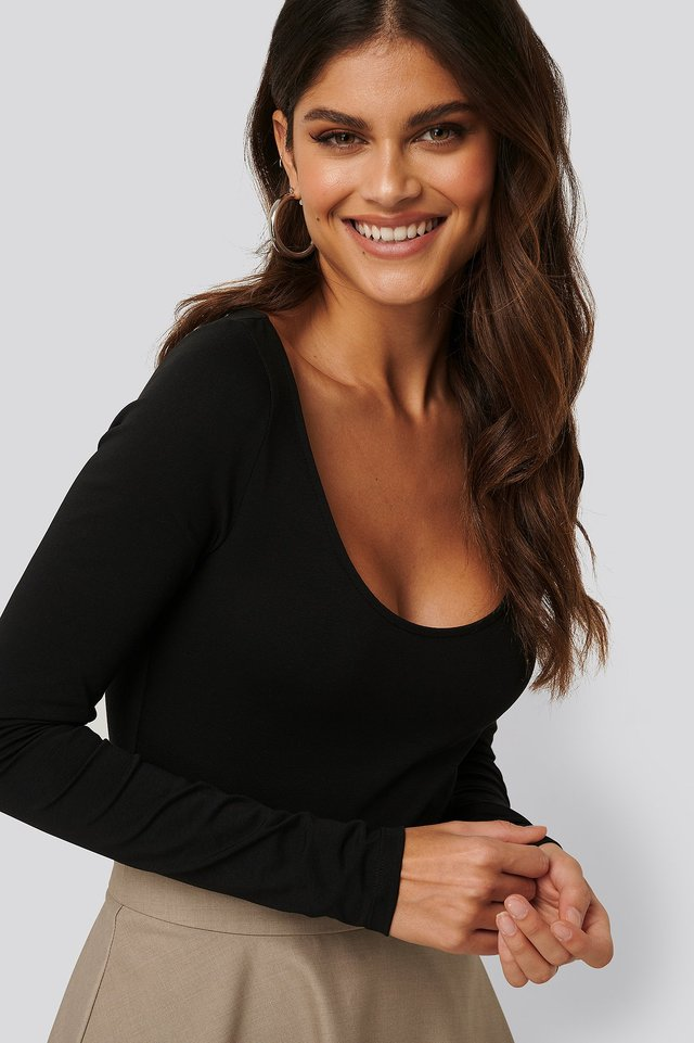 Round Neck Body Black