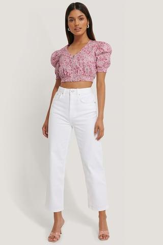 White Rette Korte Jeans