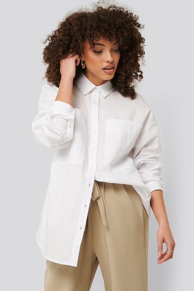 Skjorta Med Lång Ärm White