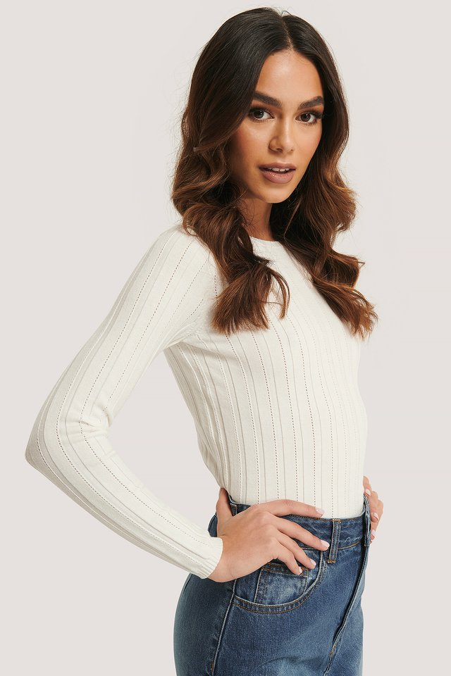 Fine Knit Sweater Off White