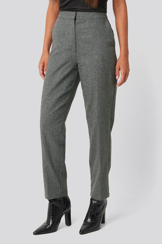Cigarette Suit Pants Grey