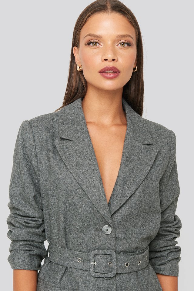Patch Pocket Blazer Grey