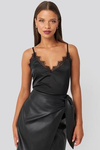 Black Lace Detail Singlet
