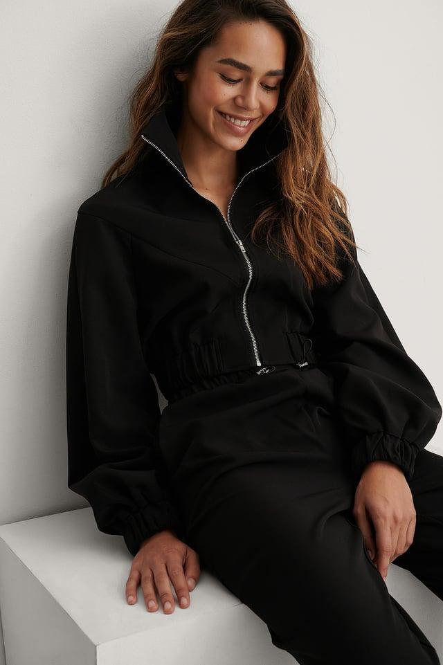 Cropped Jacket Black