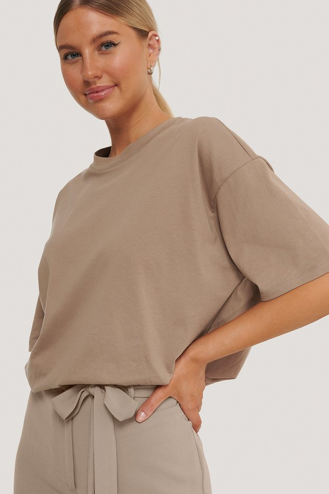Oversize T-Shirt Taupe