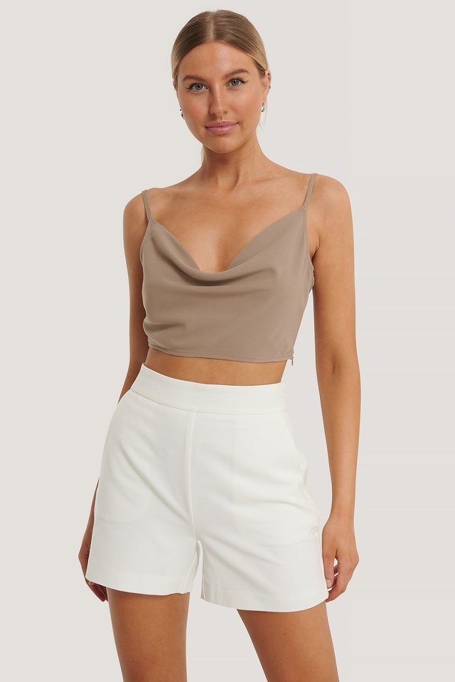 High Waist Shorts White
