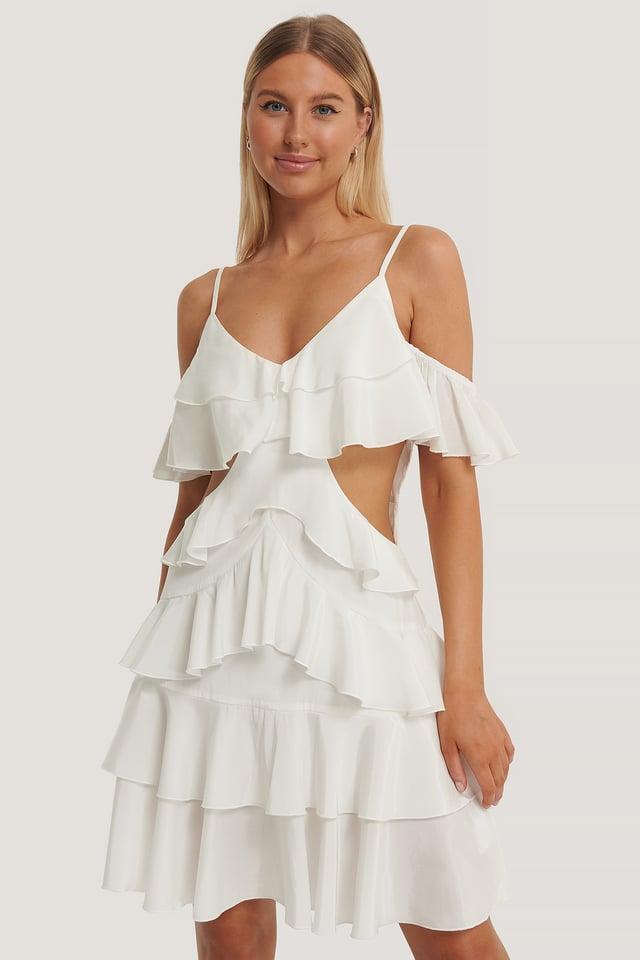 Vestido Mini Holgado Offwhite