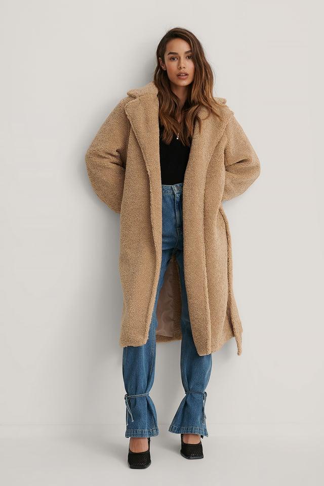 Structured Coat Beige
