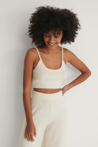 White Cropped Stricktop