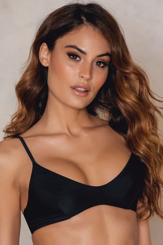 Black KS Triangle Bikini Top